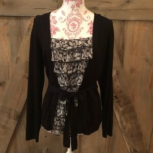 Apt 9 Ruffled Blouse with Sweater